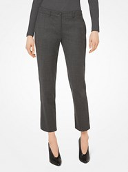 Michael Kors Samantha Stretch Tropical Wool Pants Grey
