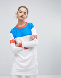 Daisy Street Oversized Sweatshirt In Colour Block White