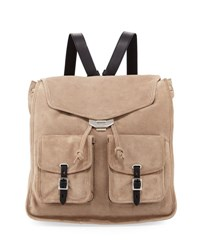 Rag And Bone Field Suede Backpack Gray