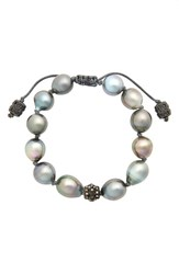Armenta Women's Old World Pearl And Diamond Bracelet