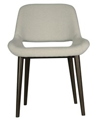 Saloom Furniture Model 118 Upholstered Side Chair Brown