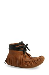 Women's Free People 'Eastwood' Fringe Moccasin Desert Leather