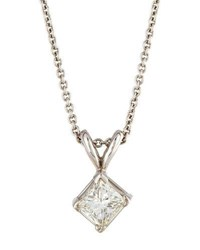 Diana M. Jewels 14K Princess Cut Diamond Pendant Necklace 0.56Tcw