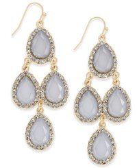 Inc International Concepts Gold Tone Gray Crystal Chandelier Earrings Only At Macy's