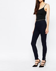 Reiss Skinny Newton Jeans With Ankle Zips Navy