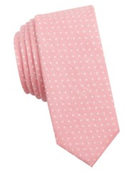 Original Penguin Cotton Polka Dot Tie Pink