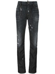 Dsquared2 Los Angeles Chain Trim Jeans Black