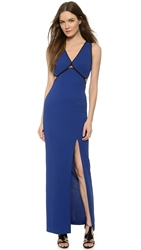 Yigal Azrouel Framed Front Gown Blue