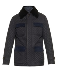 Brioni Mink Fur Collar Quilted Field Jacket