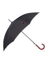 Lulu Guinness Bloomsbury 2 Lips Grid Umbrella Black
