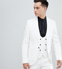 Noose And Monkey Tall Super Skinny Suit Jacket White