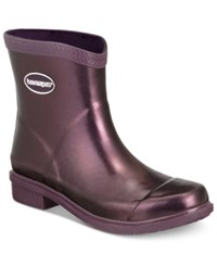Havaianas Galochas Low Metallic Rain Booties Women's Shoes Aubergine Metallic