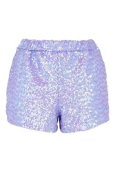 Jaded London Lilac Sequin Shorts Co Ord By Purple