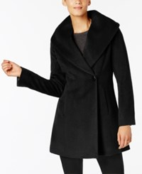 Trina Turk Asymmetrical Walker Coat Black