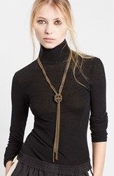 Women's Lanvin Loose Knot Brass Necklace