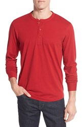 Nordstrom Men's Men's Shop Brushed Pima Cotton Long Sleeve Henley Red Chili