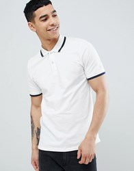 Produkt Polo Shirt With Tipping Cloud Dancer White