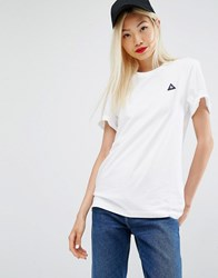 Le Coq Sportif Tshirt With Ribbed Detail White