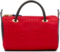 Kenzo Red And Grey Kombo Duffle Bag