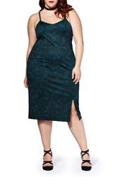 Mblm By Tess Holliday Plus Size Women's Holiday Two Piece Mesh Top And Ponte Dress