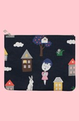 Oohlala Home Of My Heart Coated Canvas Cosmetics Pouch