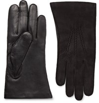 Dents Warwick Cashmere Lined Suede And Leather Gloves Black