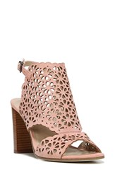 Via Spiga Women's Garnet Perforated Ankle Strap Sandal Salmon Suede