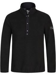 Oscar Jacobson Norris Half Zip Jumper Black