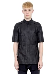 Alexandre Plokhov Nappa Leather Short Sleeve Shirt