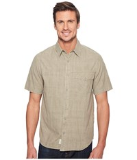 Woolrich Zephyr Ridge Solid Shirt British Tan Men's Short Sleeve Button Up