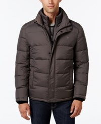 Calvin Klein Men's Big And Tall Classic Quilted Puffer Coat A Macy's Exclusive Style Dark Chromium