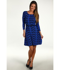 Gabriella Rocha Cicie Dress Royal Print Women's Dress Navy