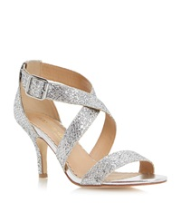 Head Over Heels Hailing Glitter Dressy Sandals Silver