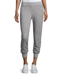 Atm Anthony Thomas Melillo Straight Leg Sparkle Sweatpants Gray Light Gray