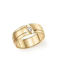 Bloomingdale's Diamond Men's Band In 14K Yellow Gold .15 Ct. T.W. White Gold