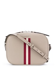 Bally Striped Cross Body Bag Neutrals