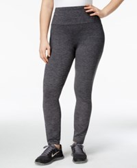 Styleandco. Style Co. Sport Plus Size Tummy Control Leggings Only At Macy's Black Comb
