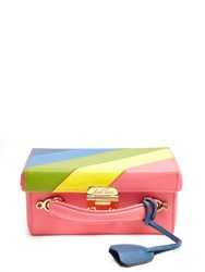 Mark Cross Grace Small Grained Leather Box Bag Pink Multi