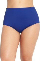 Lablanca Plus Size Women's La Blanca High Waist Bikini Bottoms Blueberry