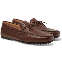 Tod's City Gommino Full Grain Leather Loafers Dark Brown