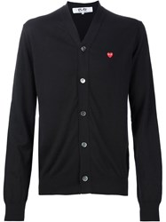 Comme Des Gara Ons Play Embroidered Heart Cardigan Black