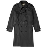 Saint Laurent Belted Trench Coat Black