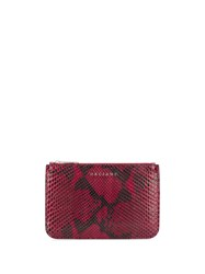Orciani Python Effect Leather Wallet 60
