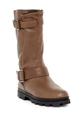 Gentle Souls By Kenneth Cole Canden Moto Boot Brown