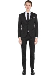 Daniele Alessandrini Grey Stretch Micro Textured Evening Suit