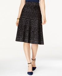 Alfani Animal Print A Line Midi Sweater Skirt Only At Macy's Leopard Print
