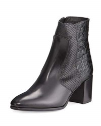 Andre Assous Miranda Embossed Leather Bootie Black
