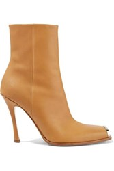 Calvin Klein 205W39nyc Wilamiona Metal Trimmed Leather Ankle Boots Tan