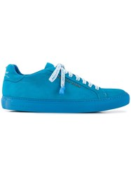Philipp Plein Lace Up Sneakers Blue