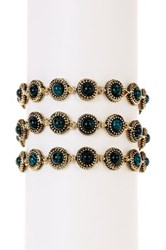 House Of Harlow Cuzco Triple Row Bracelet Green